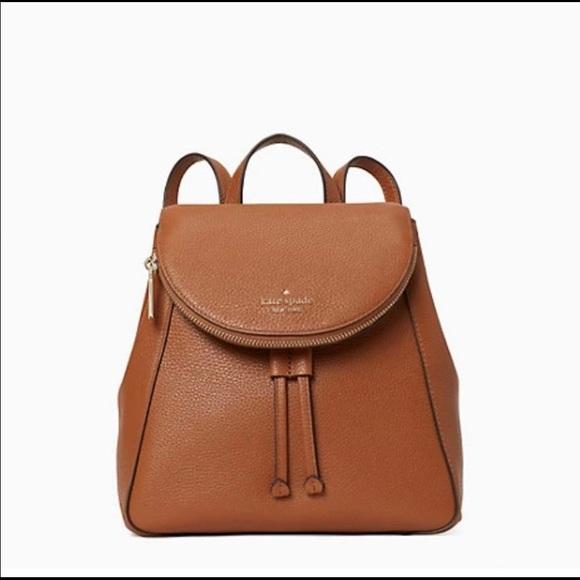 NWT Kate Spade Medium Leila Backpack-Gingerbread